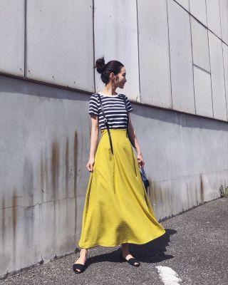 快適&女性らしく!ロングスカートを取り入れた40代女性の春夏ファッション8選